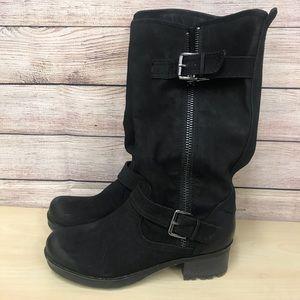 White Mountain Trendy Black Boots Size 7.5